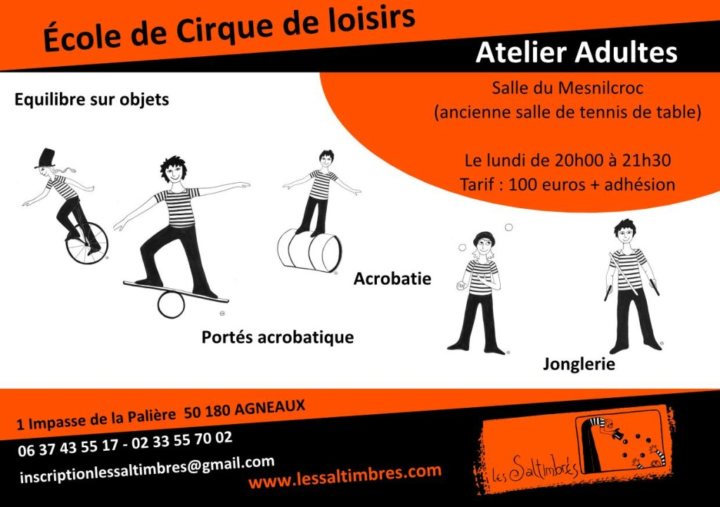 Flyer Ecole de cirque - Adultes-page001